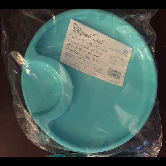 Pampered Chef Other - Pampered Chef Outdoor Plates and Plasticware